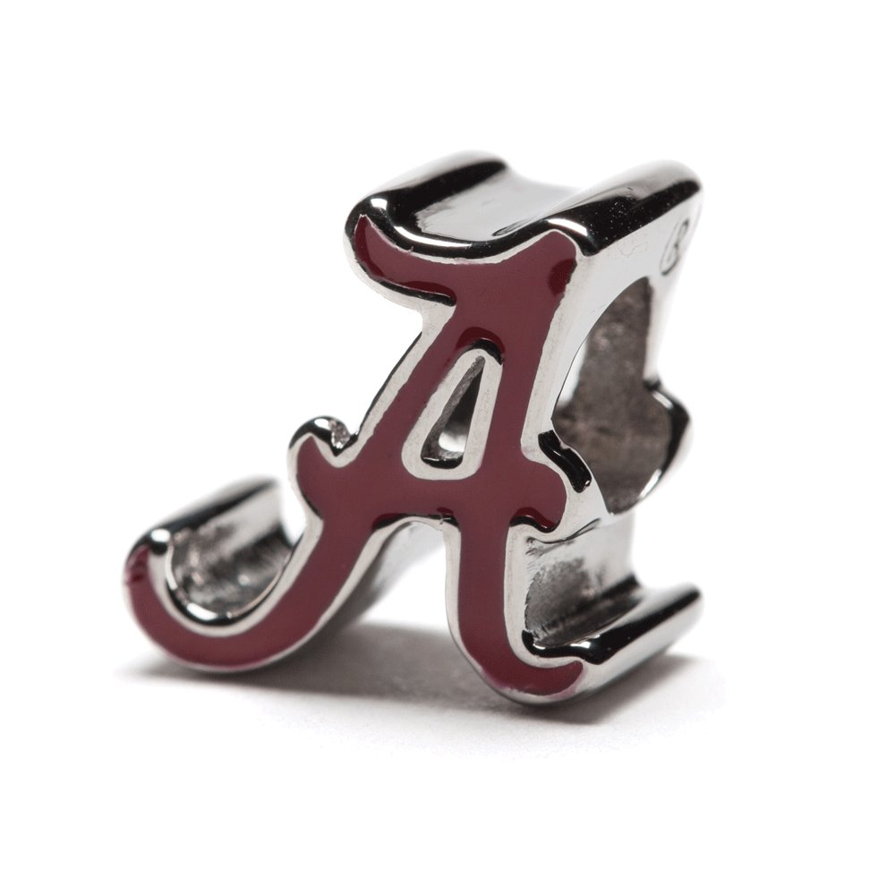 University of Alabama Charm Bracelet | Crimson Tide Gifts | Stainless Steel Alabama Jewelry | Alabama Logo Charm Bracelet by Stone Armory (Image #2)