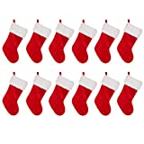 Glitzhome Traditional Red Plush Santa Christmas Stocking (stocking set of 12) Review