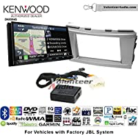 Volunteer Audio Kenwood Excelon DNX994S Double Din Radio Install Kit with GPS Navigation Apple CarPlay Android Auto Fits 2007-2011 Toyota Camry with Amplified System (Silver)