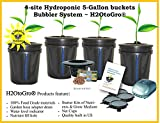 DWC 4-site Hydroponic Bucket BUBBLER Grow kit