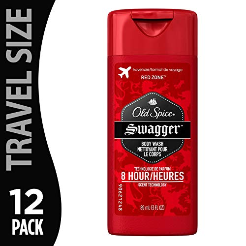 Old Spice Red Zone Body Wash Swagger 3 Ounce (12 Pack) |Gentle on Skin and Free of Dyes and Perfumes | for Daily Shower Use on Face and Body (Old Spice Body Wash 3 Pack)