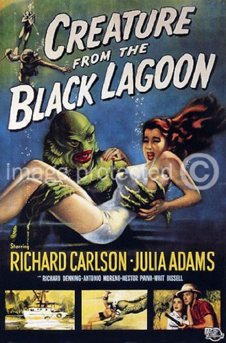 Creature From the Black Lagoon Vintage Movie Poster 24x36 inches (Poster Film Movie Classic)