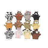 Image of Fun Express Preschool Kindergarten Velour Animal Finger Puppets Kids Toy (1 Dozen)