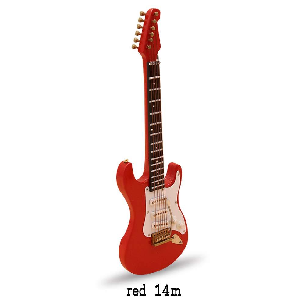 Mini Holz E-Gitarre Deko Weihnachtsbaum Deko Christbaumschmuck Christbaum Ornamente Mini Musikinstrumente Modell 10cm / 14cm 10 CM Schwarz Immoch