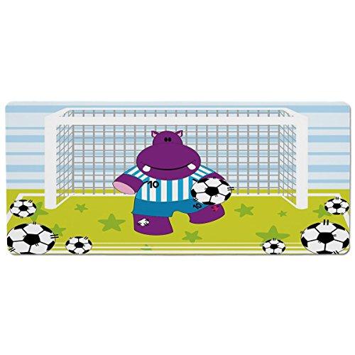 Mouse Pad Unique Custom Printed Mousepad [ Sports Decor,Cute Hippopotamus Soccer Goal Keeper Football Cartoon Print,Apple Green Baby Blue Purple ] Stitched Edge Non Slip Rubber (Soccer Keeper Control)
