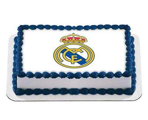 Real Madrid Football Club Logo Edible Cake Image Birthday Cake Topper Icing Sugar Paper A4 Sheet Edible Frosting Photo 1/4 by EdibleInkArt