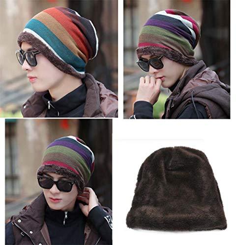 de Sombrero Multicolor36 Sombrero Invierno Black Grueso Hombres Temptation de Punto 1 Moda Plus para Punto Terciopelo Sombrero de f5qPxS5H