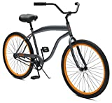 Critical Cycles Chatham Beach Cruiser Men's 26″ Single-Speed, Graphite & Orange Review