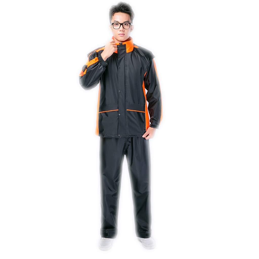 Orange XXXL Imperméable M L XL   2XL   3XL Hommes et Femmes Pantalon de Pluie Costume Split Adulte (Couleur   Orange, Taille   M)