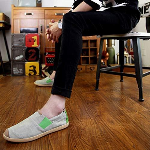 de de Hombres Zapatos Zapatos Lona los Color los Salvajes de de WangKuanHome Ocasionales Zapatos Mezclilla Gray de Lona 43 Tendencia de Zapatos Lona Hombres Verano de Size Gray U7awxY