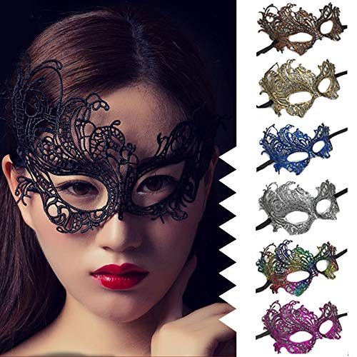Lady Lace Eye Face Mask Masquerade Party Prop Ornament 6 Color Fashion Z