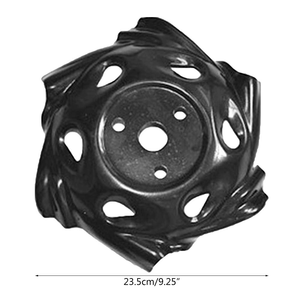Manyo - Cuchilla de cortacésped de metal, 23,5 cm, herramienta de jardín agrícola, repuesto para desbrozadora de gasolina, cortacésped