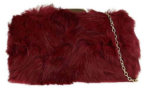 Fur Burgundy Plain Hard Girly Girly Case HandBags HandBags RITwq0PH