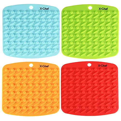 x-chef-silicone-kitchen-trivet-hot-pads-insulated-non-slip-set-of-4