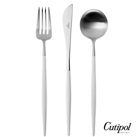 Amazon.com: cutipol Goa White/Silver Series Home Dinner ...
