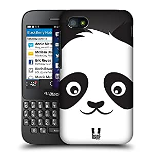Head Case Designs Panda Cartoon Animal Faces Protective Snap-on Hard Back Case Cover for BlackBerry Q5