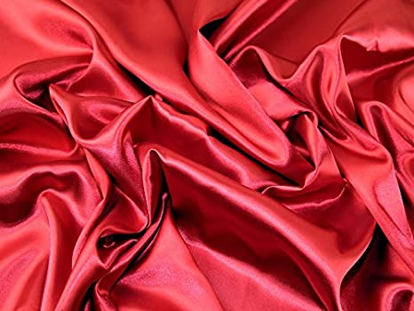 4990675e25 Plain acetato satin Abito tessuto rosso scuro (difettoso) - al metro ...