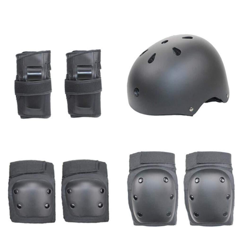 Schutzausrüstung Set, Sportschutz Verstellbarer Helm Ellenbogen Handgelenkstütze Pad Für Kinder Und Erwachsene (7 Stücke)
