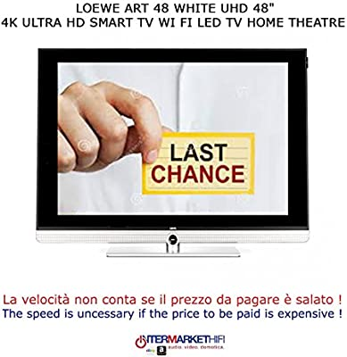 Loewe Art 48 White UHD 48 4 K Ultra HD Smart TV WiFi LED TV Home Theatre: Amazon.es: Electrónica