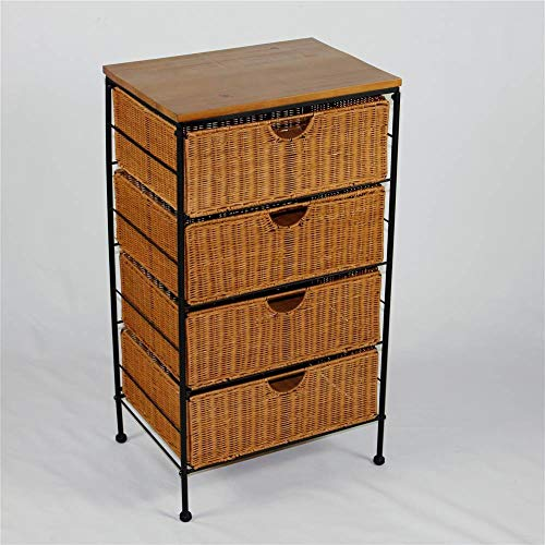 4D Concepts 4-Drawer Wicker Stand, - Chest Wicker Drawer 4