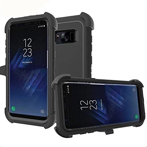 new style 7a071 d17a6 Samsung Galaxy S8 Plus Case, [Heavy Duty] [Drop Protection] [Shockproof]  Tough Rugged TPU Hybrid Hard Shell Cover Defender Case for Galaxy S8 Plus  ...