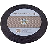 Country Brook Design 3/8 Inch Black Heavy Nylon Webbing, 20 Yards