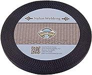 Country Brook Design 3/8 Inch Black Heavy Nylon Webbing