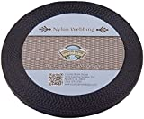 3/8 Inch Black Heavy Nylon Webbing, 300 Yards