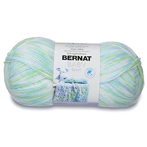 - Bernat Baby Sport Big Ball Ombre Yarn, 9.8 oz, Gauge 3 Light, 100% Acrylic, Funny Prints