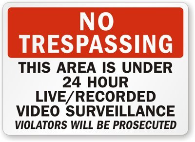 under recorded video surveillance Violators product image