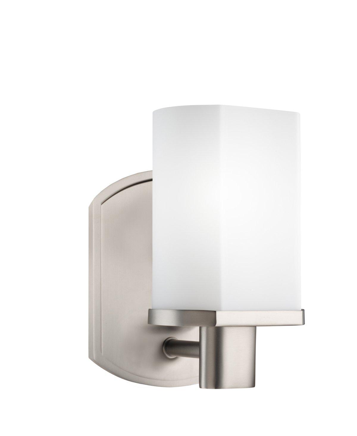Kichler brushed nickel wall mt 1lt incandescent kichler brushed nickel - Kichler 5051ni Lege 1 Light Wall Sconce Brushed Nickel Vanity Lighting Fixtures Amazon Com