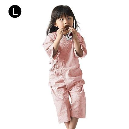 c5611eca1bbe Samber Children s Pajamas Set Kids Japanese Home Kimono Pajamas Cotton Baby  Boys and Girls Sauna Spa