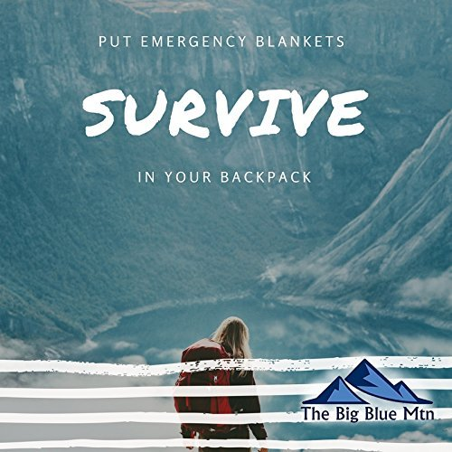 The Big Blue Mtn Emergency Blanket 4 Pack (Silver) + Paracord Survival Bracelet (Navy) Mylar Thermal Foil Space Blankets for Outdoor Camping Hiking Gear by The Big Blue Mtn (Image #7)