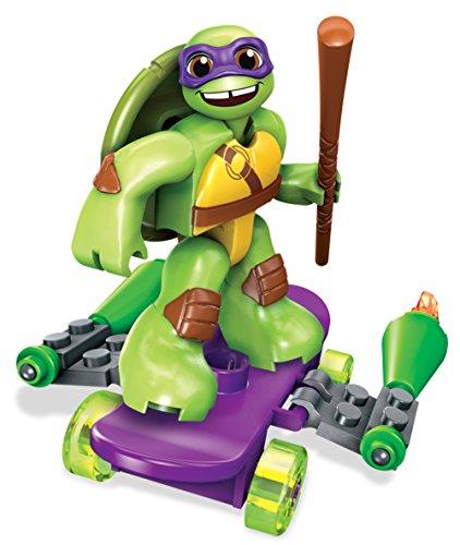 Mega Bloks DMW40 - Figura de Juguete Teenage Mutant Ninja Turtles Donnie con monopatín