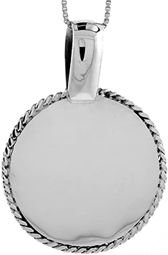 Handcrafted Solid 925 Sterling Silver Polished Round Disc Locket Pendant