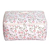 "Sivin Folding Closet Storage Bags,Blankets,Duvets,Season Items Under Bed Storage Bags,24""×19.7""×11""(Bird Pattern,XL)"