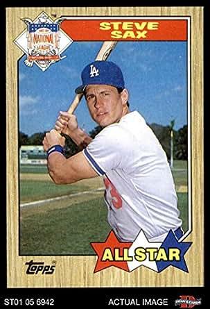 Amazon.com: 1987 Topps # 596 All-Star Steve Sax Los
