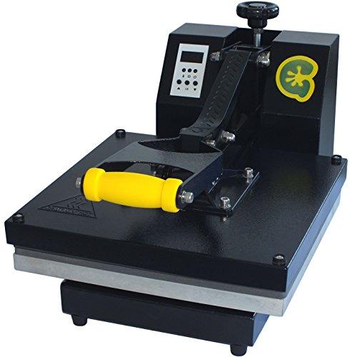 Gecko T-Shirt Sublimation GK100 Heat Transfer Press Machine, 15 x 15-Inch, Black