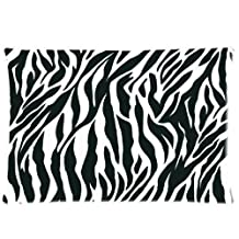 Zebra Print Pillowcase Custom Throw Pillow cover 20x36 Zippered Pillow Case Two Sides Picture Printed Soft Cotton Comfortable