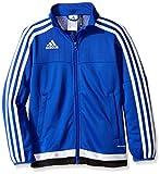 adidas Youth Soccer Tiro 15 Training Jacket, Bold Blue/White/Black, Medium