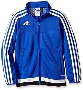 adidas Youth Soccer Tiro 15 Training Jacket, Bold Blue/White/Black, X-Small