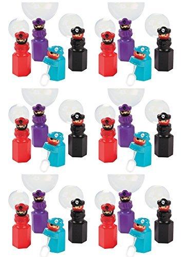 Set of 24 Pirate Character Party Favor Bubbles - 2 Dozen - 0.6 oz Bottles