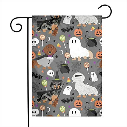 Qizibii Halloween, Ghost Dogs, Bandage Dogs Home Sweet Home Garden Flag Vertical Double Sided Spring Summer Yard Outdoor Decorative 12.5 X 18 -