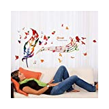Best Wall Stickers For Bedroom Sofas - Alrens 47 x 28 Inch Colorful Bird Feather Review