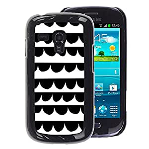 A-type Arte & diseño plástico duro Fundas Cover Cubre Hard Case Cover para Samsung Galaxy S3 MINI 8190 (NOT S3) (Lines White Kids Draw Hand)