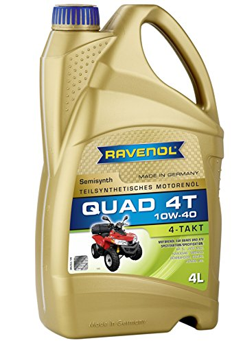 (RAVENOL J1V1402 SAE 10W-40 4-Stroke ATV Quad Oil - 4-T Semi-Synthetic API SL Licensed (4)