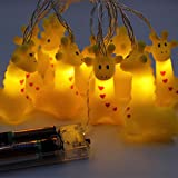Circle Circle 1.5 m / 4.9 ft 10 Lights Battery Powered Cute Animal Giraffe Shape LED String Lights for Indoor/Outdoor Halloween Christmas Thanksgiving Home Party Children Kids Bedroom Decoration