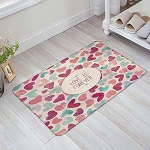 Love Heart-Shaped AirDoormat Love Home Bathroom Bedroom Mat Toilet Kitchen Floor Decor Rug Non Slip Mat