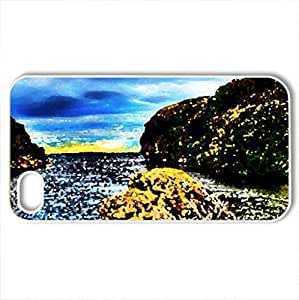 Beauty Of Nature - Case Cover for iPhone 4 and 4s (Forces of Nature Series, Watercolor style, White)