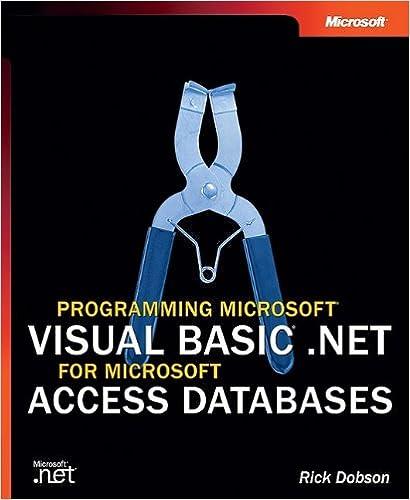 Programming Microsoft® Visual Basic® .NET for Microsoft Access ...